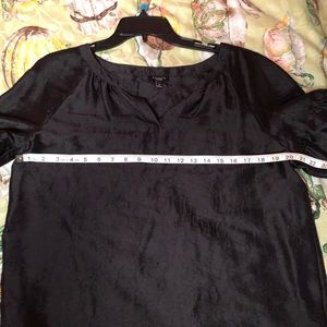 Talbots Tops - Talbots Black Puff Sleeve size Medium